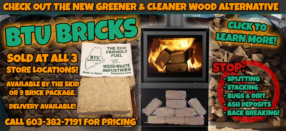 BTU Bricks are an alternative to traditional wood fuel.
