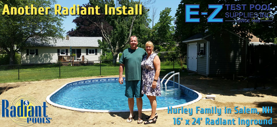 Radiant Pool installation installers dealers in NH, MA. Pools for sale.