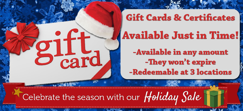 Pool Store Gift Certificates, gift ideas for Christmas and Holidays