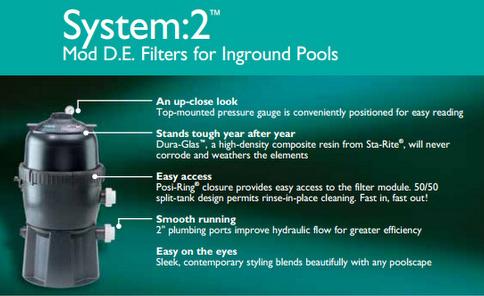 D E Pool Filter Sta Rite Pld 50 System 2 Modular D E