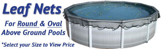 Leaf Nets And Leaf Net Covers On Sale For Above Ground Swimming Pools