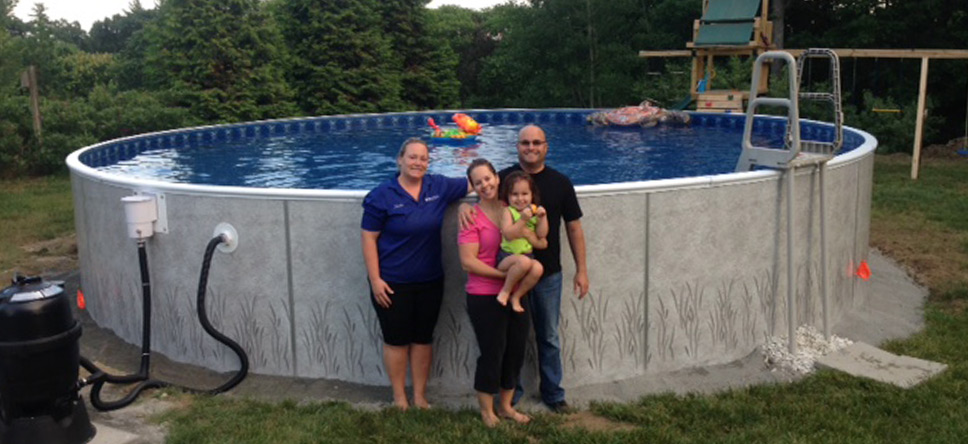 Happy Above Ground Pool customers