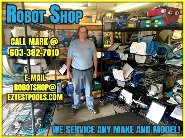 Pool Cleaner Repair Shop in NH at E-Z Test Pool Supplies, Inc