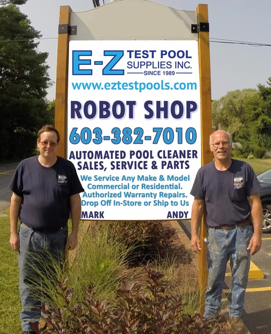 Repair Center for Automated Robotic Pool Cleaners