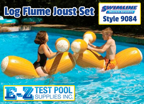 Log Flume Joust Set Swimline 9084 Joust Set Log