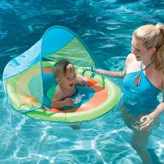 Buy the The Baby Spring Float with Sun Canopy at E-Z Test Pool Supplies, Inc!