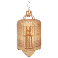 BIRD CAGE BEADED LAMP - SILVER