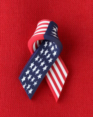 Ribbon with stars and stripes