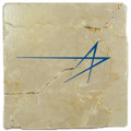Lockheed Martin Star Tumbled Stone Tile Coaster