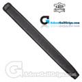 The Grip Master Kidskin Leather Sewn Midsize Paddle Putter Grip - Black / Black Underlisting