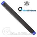 The Grip Master Kidskin Leather Sewn Midsize Paddle Putter Grip - Black / Blue Underlisting