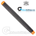 The Grip Master Kidskin Leather Sewn Midsize Paddle Putter Grip - Black / Orange Underlisting