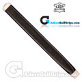 The Grip Master Kidskin Leather Sewn Midsize Paddle Putter Grip - Black / White Underlisting