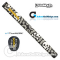 TourMARK Loudmouth Shiver Me Timbers Midsize Pistol Putter Grip - Black / White