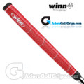 Winn Excel Medallist Midsize Pistol Putter Grip - Red / White