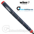 Winn Excel Medallist Pro Pistol Putter Grip - Navy Blue / Red