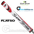 SuperStroke Flatso 1.0 Legacy Series Putter Grip - White / Red