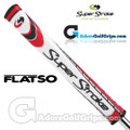 SuperStroke Flatso 2.0 Legacy Series Putter Grip - White / Red