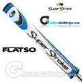 SuperStroke Flatso 2.0 Legacy Series Putter Grip - White / Blue