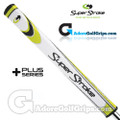 SuperStroke Flatso 2.0 XL Plus Legacy Series Counter Core Putter Grip - White / Yellow