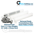 Universal Plastic Counterbalance Butt Insert Tubes (3 Pack)