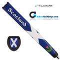 TourMARK Scotland Jumbo Pistol Putter Grip - Blue / White