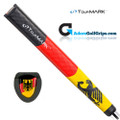 TourMARK Germany Jumbo Pistol Putter Grip - Black / Red / Yellow