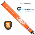 TourMARK Netherlands Jumbo Pistol Putter Grip - Orange / White
