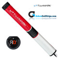 TourMARK RD3 Jumbo Putter Grip - Red / White / Black