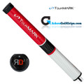 TourMARK RD2 Midsize Putter Grip - Red / White / Black