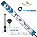 SuperStroke Flatso 1.0 CounterCore Putter Grip - White / Blue / Silver