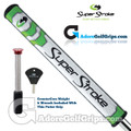 SuperStroke Slim 3.0 CounterCore Putter Grip - White / Lime Green / Silver
