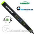 Lamkin Sink Rounded 11 Inch Jumbo Pistol Putter Grip - Black / Green / Blue