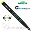 Lamkin Sink Rounded 13 Inch Jumbo Pistol Putter Grip - Black / Green / Blue