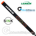 Lamkin Sink Squared 11 Inch Midsize Pistol Putter Grip - Black / Orange / Yellow