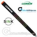 Lamkin Sink Squared 13 Inch Midsize Pistol Putter Grip - Black / Orange / Yellow