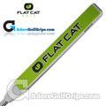 Flat Cat Golf Standard 12 Inch Midsize Putter Grip - White / Green / Black