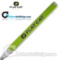 Flat Cat Golf Slim 12 Inch  Putter Grip - White / Green / Black