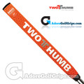 2 Thumb Snug Daddy 27 Putter Grip - Orange / White / Silver