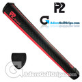 P2 React Jumbo Putter Grip - Black / Red