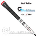 Golf Pride New Decade Multi Compound Align Grips - White / Black / Red