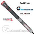 Golf Pride New Decade Multi Compound MCC Plus 4 Align Midsize Grips - Black / Grey / Red