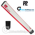 P2 Classic Jumbo Putter Grip - White / Red