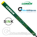 Lamkin Sink Squared 11 Inch Masters Limited Edition Midsize Pistol Putter Grip - Green / Yellow / White