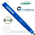 Lamkin Sink Rounded 11 Inch Jumbo Pistol Putter Grip - Bright Blue / White / Black