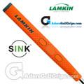 Lamkin Sink Rounded 11 Inch Jumbo Pistol Putter Grip - Neon Orange / Grey / Silver