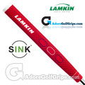 Lamkin Sink Rounded 11 Inch Jumbo Pistol Putter Grip - Red / White / Blue