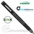 Lamkin Sink Rounded 13 Inch Jumbo Pistol Putter Grip - Black / White