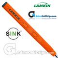 Lamkin Sink Rounded 13 Inch Jumbo Pistol Putter Grip - Neon Orange / Grey / Silver