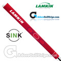 Lamkin Sink Squared 11 Inch Midsize Pistol Putter Grip - Red / White / Blue